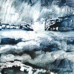 Paysage bleu 10 monot papier chinois 20x20 02 2020