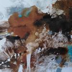 Paysage bleu et terre 1 monot papier jap 30x30 03 2019