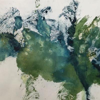 Paysage bleu et vert 6 monot papier 90gr 18 38 08 2019