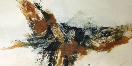 Paysage ocre et noir 4 monot papier jap 25 50 08 2019