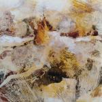 Paysage ocre et terre 1 monot papier jap 20x20 03 2019
